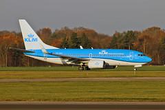 PH-BGI Boeing 737-7K2 KLM Named Vink - Finch MAN 18-11-18 (PlanecrazyUK) Tags: egcc manchester ringway manchesterairport phbgi boeing7377k2 klm namedvinkfinch man 181118