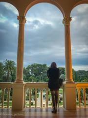 Contempler la beauté ... des lieux (harakis picture) Tags: iphone art women girl saintjeancapferrat alpesmaritimes france fr