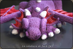 Purple crochet dragon (LaCalabazadeJack) Tags: dragon creature beast fantasy monster magic purple cute kawaii animal amigurumi crochet ganchillo yarn plush toy doll posable poseable handmade handcraft craft tutorial la calabaza de jack cristell justicia artesanía tienda online shop comprar venta