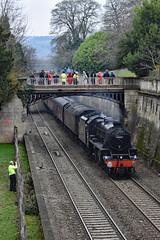 bath 4935 copy (m.c.g.o) Tags: black five bath somerset cathedrals express steam dreams british railways sydney gardens december 4th 2018 uk locomotives 44871