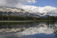 Spillway Lake and Mount Wintour (birgitmischewski) Tags: spillwaylake mountwintour kananaskis lake water reflection alberta canada