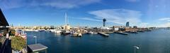 """""""Alrededor del puerto antiguo"""" (atempviatja) Tags: barcelona puertoantiguo torre puerto nubes cielo mar"""