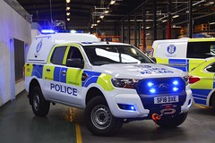 SF18 DXE (S11 AUN) Tags: police scotland ford ranger pickup truck 4x4 mountain rescue team mrt specialist incident response vehicle glasgow 999 emergency sf18dxe