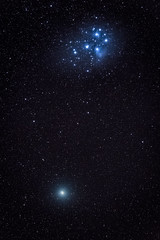 Christmas comet (Andrew Thomas 73) Tags: 46p pleiades wirtanen comet astronomy nikond850 ioptron skyguiderpro
