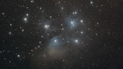 M45 (Zaccar_spirit) Tags: stars pleiades seven sisters sony a7s ts 107700 skywatcher aseq6gt astronomy astrophotography m45 open cluster space night apo triplet dust reflection dark mirrorless long exposure