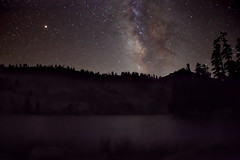 Reach for the stars (YetAnotherLisa) Tags: backpack camp ostranderlake california hike yosemite milkyway stars darknight