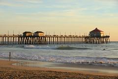Huntington Pier (gooey_lewy) Tags: los angeles la united states us usa america american california ca huntington beach sunset ocean pacific rubys people human goers girl