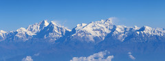 Flying past Annapurna Nepal (Dave Russell (1 million views thanks)) Tags: annapurna mountain mountains range nepal asia landscape rock snow cap view visa scene scenery wild nature travel tourism canon eos eos7d 7d inflight