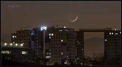 Despedida. (Diego Rai) Tags: stars moon estrellas luna night noche nightscape nightexposure nightphotography oviedo asturias