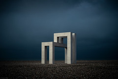 LH / Le Havre (Toine B.) Tags: lh havre lehavre installation architecture mer sea blue france minimal