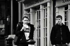 Drinking (Bury Gardener) Tags: monochrome mono burystedmunds bw blackandwhite britain suffolk streetphotography street streetcandids snaps strangers candid candids people peoplewatching folks 2018 nikond7200 nikon england eastanglia uk abbeygatestreet