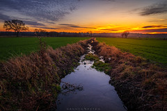 Sunset in Scania (dannygreyton) Tags: sunset sunsetphotography stream sweden scania colorful canon canong1xiii landscape landscapephotography