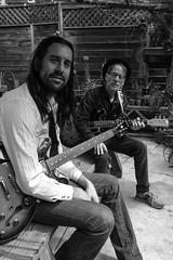 John and Jerry (bw) (krosencreations) Tags: blues csun franklinbluesband jerryrosen johnsikora kateannerosen band guitar guitarist photography photoshoot