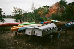 Edit -1-15 (Dane Van) Tags: canon rebelg eos 500n 50mm18ii ccr canadacreekranch lakegeneva tibbitslanding boats kayak canoe rowboat kodak portra400 fall autumn
