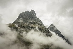 Norway (Janis Sabanovs) Tags: hiking hike travel rock fog clauds claud montains