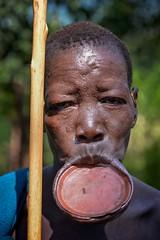 Surma Woman (Rod Waddington) Tags: africa african afrique afrika äthiopien ethiopia ethiopian ethnic ethnicity etiopia ethiopie etiopian omovalley omo omoriver outdoor surmi tribe traditional tribal lipplate grandmother perspiration portrait people
