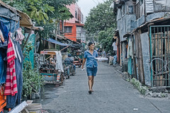 Suburban street (Beegee49) Tags: street suburban woman walking filipina people luminar sony a6000 bacolod city philippines asia happyplanet asiafavorites