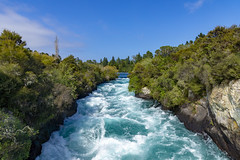 Waters run wild.. (Sarah Fraser63) Tags: hukafalls water nz waterfall taupo newzealand blue sky rapids nature sonya77
