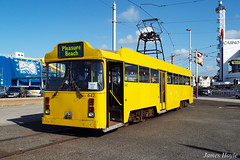 Centenary Car 642 at Pleasure Beach 26-10-15 (JH Aviation and Railway Photography) Tags: blackpool blackpooltramway blackpooltower tramway tram