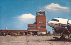 UCA01 (By Air, Land and Sea) Tags: airport postcard newyork utica uca oneidacountyairport dc3 abandoned closed terminal tower
