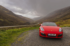 Red Glen Docherty Pass (syf22) Tags: pcgb pcgbr2 pcgbscottishregion porscheclubgbregion2 porsche porscheboxster guardsred red boxster boxsters boxster981s car automobile auto autocar automotor vehicle motor motorcar scotland scottishhighland highlandofscotland scenic scenery scene country countryside opencountry openroad traffic tour touring roadtrip westcoast rosscromarty glendochertypass pass fast sky cloud clouds cloudysky cloudscape high