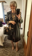 So Cal Rain (krislagreen) Tags: tg transgender transvestite cd crossdress dress heels p patent hose raincoat pvc wet look femme feminized feminization