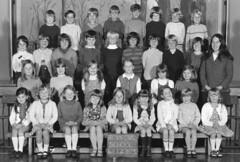 Class photo (theirhistory) Tags: boy children kids girls school class form group pupils jumper trousers jacket wellies shoes dress skirt teacher gumboots