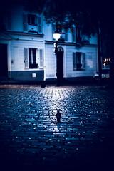 Place du Tertre, Montmartre (N.sino) Tags: leica m9 summilux50mm paris montmartre placedutertre cobble pigeon earlymorning パリ モンマルトル テルトル広場 鳩 早朝 石畳 落ち葉