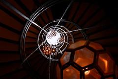 Spiral Staircase III. Caracol (Paula.rodrv) Tags: escaleras caracol staircase lámpara geometric abstract art hotel