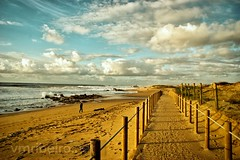 Praia da Aguda (vmribeiro.net) Tags: portugal arcozelo porto prt sony praia aguda coast sunset sea beach sand water ocean sky nature landscape blue sun travel tropical vacation a350