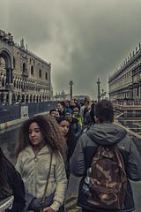 Venezia - Piazza San Marco (Almar3000) Tags: venezia venice highwater acquaalta passerella fila palazzoducale procuratie ragazzi