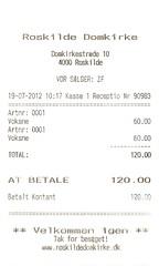 "Eintrittskarte Domkirke Roskilde • <a style=""font-size:0.8em;"" href=""http://www.flickr.com/photos/79906204@N00/32259618378/"" target=""_blank"">View on Flickr</a>"