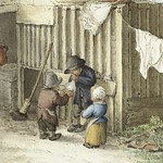 Three children playing with a pig bladder by Jean Bernard (1775-1883). Original from the Rijks Museum. Digitally enhanced by rawpixel. thumbnail