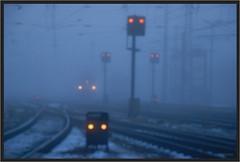 "Misty Lights ("" Wiener Schule "") Tags: austria kledering wien vienna eisenbahn railway railroad signale signals öbb oebb obb"