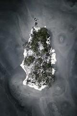 The Island! (Larson.patrik) Tags: frost frozen island sweden värmland tree sea blue contrast matte drone mavic pro dramatic winter snow ice ödebyn svaneholm