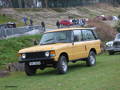 Range Rover (BenGPhotos) Tags: 2019 brooklands museum new years day classic gathering car show yellow land rover range 2door fbk468w