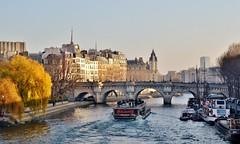 aaaa (Celly86) Tags: paris france fleuve seine fiume eau acqua ponte pont bateau
