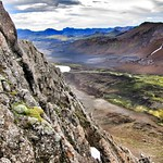 Republic of Iceland ~ Landmannalaugar Route ~  Ultramarathon is held on the route each July ~ L~ Landmannalaugar Route ~  Ultramarathon is held on the route each July ~ Lava rock & River thumbnail