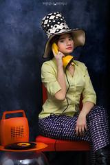 Se telefonando... (marcello.machelli) Tags: mina anni60 annisessanta hat cappello giuliamassi giulia song musica coccodrillo telephone telefono magiadischi 60 60ies sixties orange yellow arancio giallo trucco makeup portrait ritratto nikon nikond810 studio fashion moda modaanni60 style stile woman girl ragazza donna femminile italian italiana mora