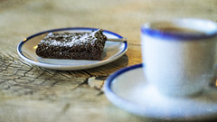brownie for breakfast (Redheadwondering) Tags: sonyα7ii mottisfont hampshire nationaltrust 119picturesin2019 sonyf1450mmlens crockery kitchen 20chocolatecakeday 20 chocolatecakeday macro table dishes plates bowls