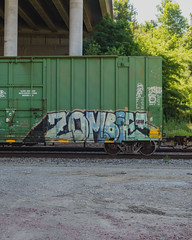 ZOMBIES (◀︎Electric Funeral▶︎) Tags: omaha midwest councilbluffs nebraska lincoln fremont desmoines kansascity kansas missouri iowa graff graffiti paint aerosol art freight train traincar freighttraingraffiti railway railroad railcar benching benched freighttrain rollingstock fr8train fr8heaven zombies sonyrx100m2 zeecrew digital photography