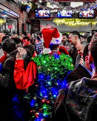 It's Christmas, junior! 🌈 🎄 (anokarina) Tags: appleiphone8 scottcircle dupontcircle city urban winter night dive bar tavern pub gay lgbtq holiday xmas christmas party instagram lights decorations costumes jrsbar adobephotoshopexpress psmobile colorsplash