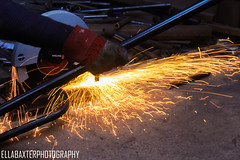 Sparks flying (ellabaxter15) Tags: sparks circularsaw welder northernireland uniproject university canoneos1200d gloves safety amateurphotographer photography documentary actionshot