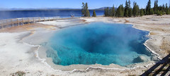 Black pool (jpotto) Tags: usa wyoming yellowstone yellowstonenationalpark geyser hotspring westthumb water yellowstonelake panoramic blackpool pool