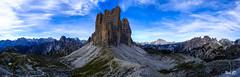 Tre Cime, view Monte Paterno (NicoD57) Tags: mountain italy tre cime trecime dolomites ferrata sky climbing hiking