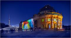 Bodemuseum Berlin (marcuskuenzel) Tags: berlin city stadt deutschland foto photo impression bodemuseum night nacht blauestunde lights festival museum historic altstadt panorama sky