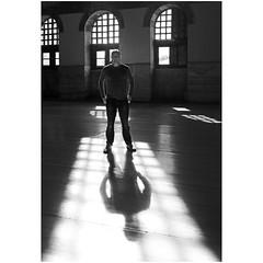 Shadow of self (Robyn Hooz) Tags: sophia sofia shadow ombra self autoritratto finestre windows square pavimento floor mosque moschea turchia turkey man uomo