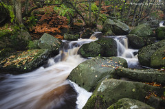 Padley Gorge (EXPLORED) (MDJL Landscapes) Tags: padleygorge peakdistrict nationalpark autumn longexposure river rocks nikon landscape