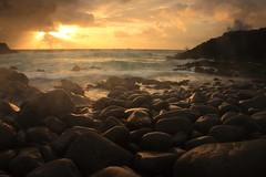 Sunrise Over Pebbly Beach (Darren Schiller) Tags: crescenthead australia beach boulders clouds coast sunrise newsouthwales sea ocean morning waves rocks