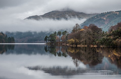 Mist on Loch Eck - Nov 2018 (GOR44Photographic@Gmail.com) Tags: loch eck cowal argyll scotland mist mountains hills water trees larch pine reflection cloud autumn gor44 panasonic g9 olympus 1240mmf28